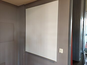Magnet whiteboard aus Emaille - 150 x 120 cm