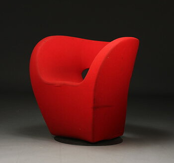 Armchair, Moroso Victoria and Albert in red fabric - Design Ron Arad