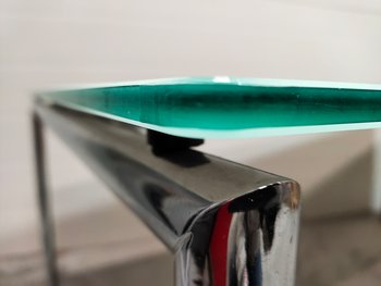 Glass table with foldable legs - 180 x 90 cm