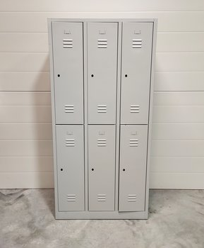 Wardrobe with 6 compartments with mounted hangers - 180 x 89 cm