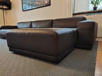 3-sits soffa, Vitra Soft Modular Sofa med fotpall - Jasper Morrison