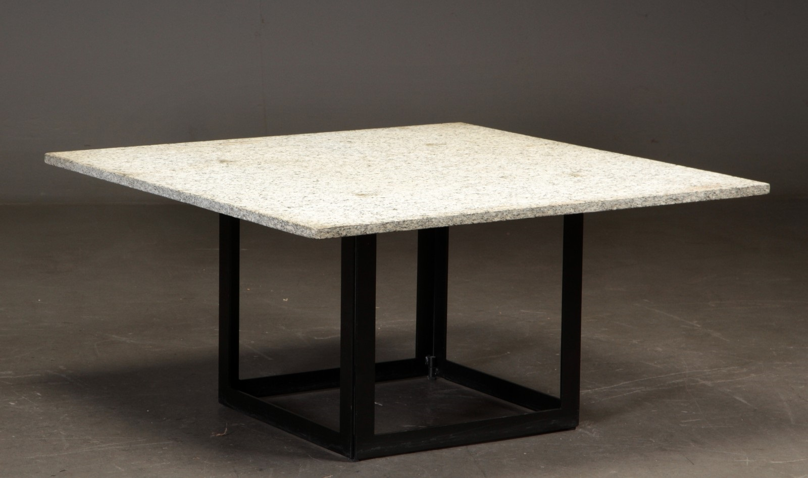 Coffee Table With Granite Top And Steel Frame 100 X Cm