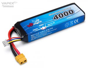 Vapex Li-Po Battery 3S 11,1V 4000mAh 25C XT60-Connector