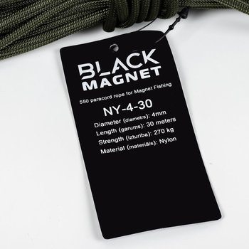 Black Magnet 4mm, heittoliina supermagneeteille 80-200kg
