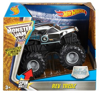 Hot Wheels chv22 monster jam reverse N.E.A police