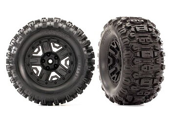 "Traxxas 6792 tires & wheels Sledgehammer black 2.8"" 4WD"