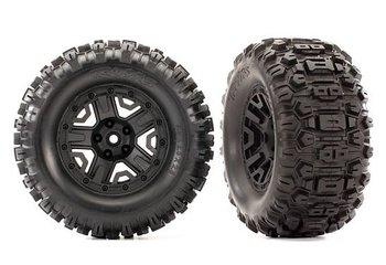 "Traxxas 6792 tires & wheels Sledgehammer black 2.8"" 4WD"
