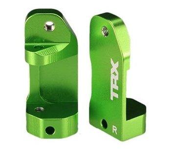 Traxxas 3632G caster blocks aluminium green