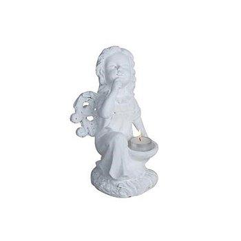 Värmeljushållare Ängel Vita,  29 cm