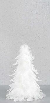 Gran Fjäder vit, 25 cm