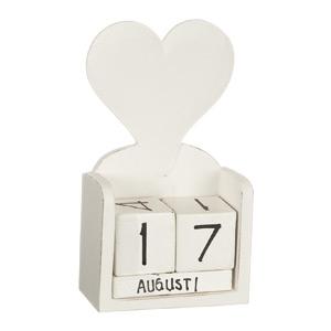 Kalender i trä med hjärta