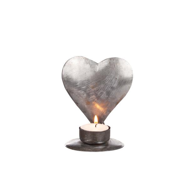 Ljushållare Hjärta i plåt, 12 cm