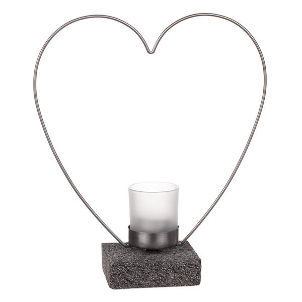 Ljushållare Smide hjärta, 25 cm