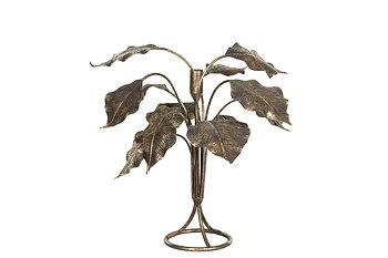 Ljusstake Löv, antik 37x34 cm