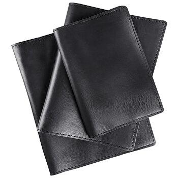 Bokomslag i  svart läder
