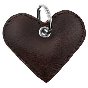 Mörkbrunt hjärta nyckelring
