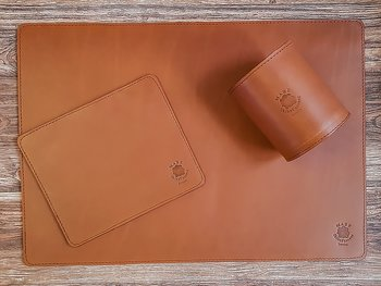Skrivbordsset Regular Cognac