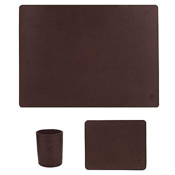 Skrivbordsset Regular Mörkbrunt
