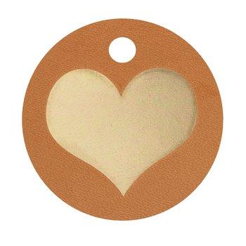 Nyckelring hjärta fylld guld