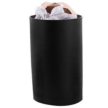 Papperskorg i äkta läder svart