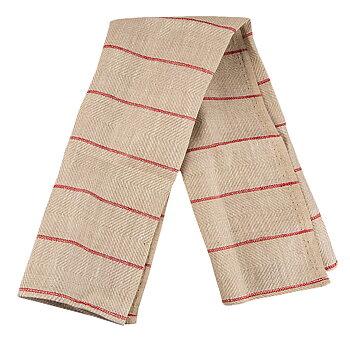 Linnehandduk, Malurk natur – röd 2-pack