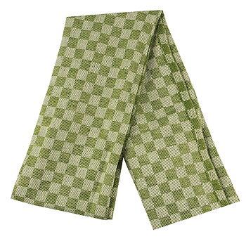 Linnehandduk, Schack bladgrön-vit 2-pack