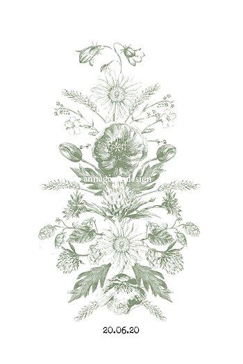 Blomsterkurbits grön