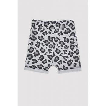 MINIKID - Shorts Grey leopard