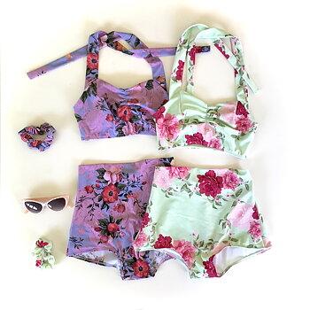 Limited edition - Minty flowers Bikini set
