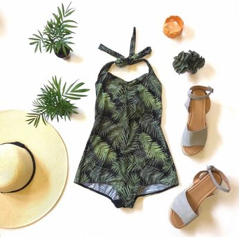 Palm print - Simple Swimsuit