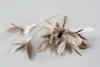 Fjäder/Tråd Blom Sicksack