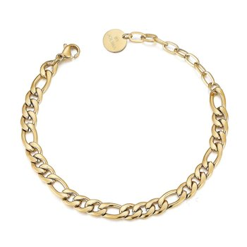 Adele chain bracelet, 5mm , Gold