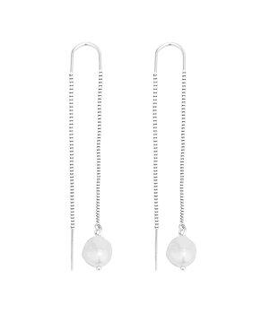 Palma pendant earring, Silver