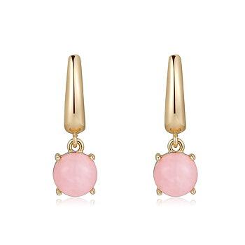 Menton earring, rosequartz gold