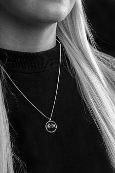 Hjärnvåg av kärlek - Halsband  Silver 60 cm