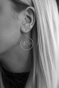 Hjärnvåg av kärlek - Örhänge silver
