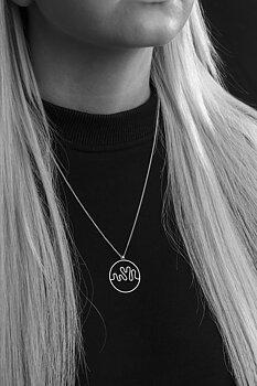 Hjärnvåg av kärlek - Halsband  silver 80 cm