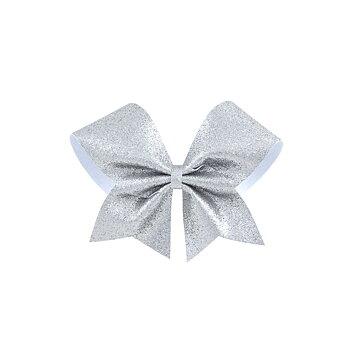 Bow Mellan Glitter Silver