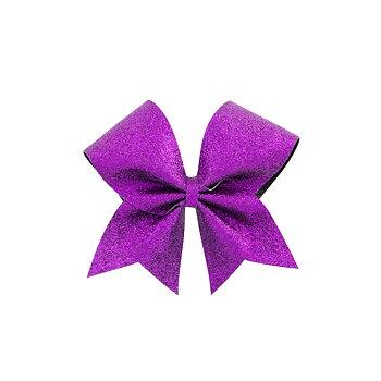 Bow Mellan Glitter Lila