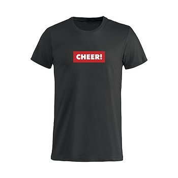 T-Shirt Svart CHEER!