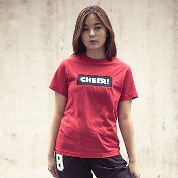 T-Shirt Röd CHEER!
