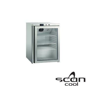 Kylskåp glasdörr, 145 liter