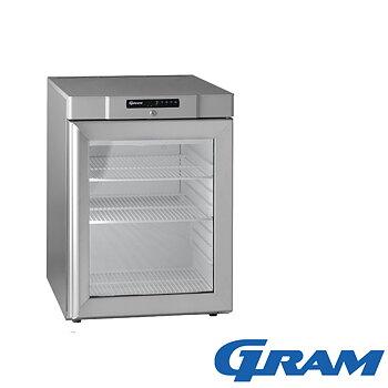 Kylskåp glasdörr, 125 liter