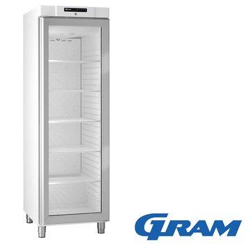 Kylskåp glasdörr, 346 liter, vit