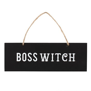 Träskylt Boss Witch