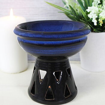 Aromalampa i keramik med djup skål