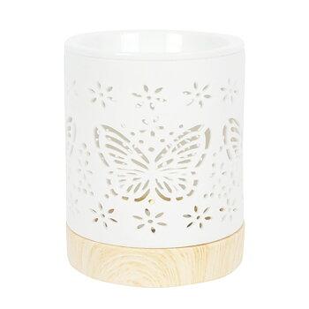 Aromalampa i keramik Fjärilar