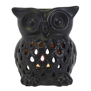 Aromalampa i keramik Uggla Svart