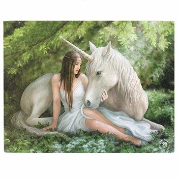 Enhörning Canvastavla av Anne Stokes
