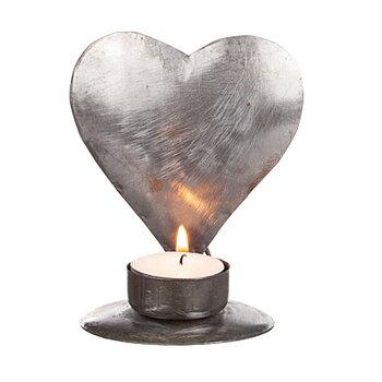 Ljushållare i hamrad plåt Hjärta